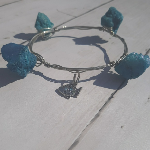 Jewelry - Blue Stone Bangle